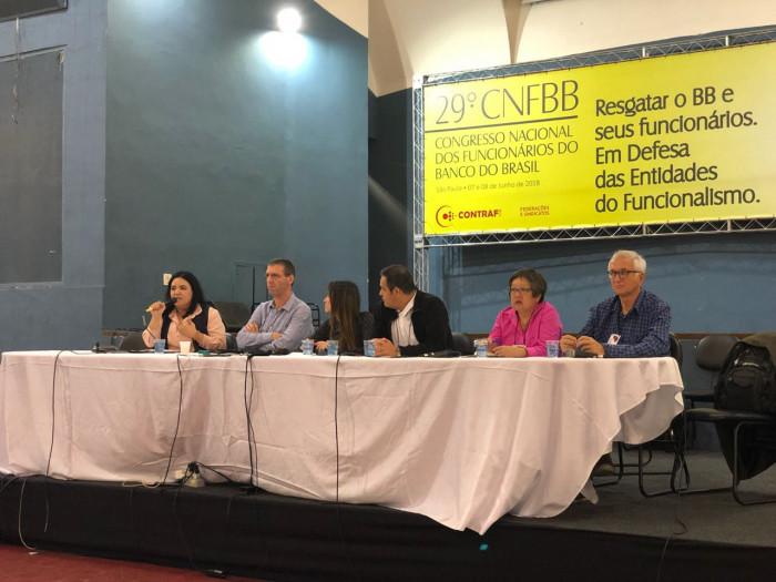 Imagem:Bancários do BB analisam conjuntura nacional e os impactos da nova legislação