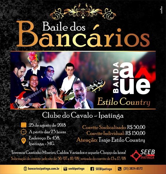 Imagem:Prazo para solicitação dos convites para o Baile dos Bancários termina amanhã, 10