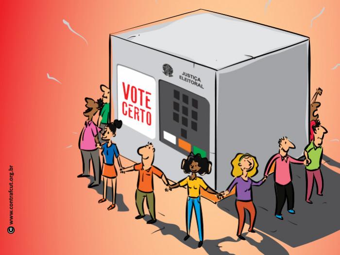 Imagem:Votar também é lutar por direitos
