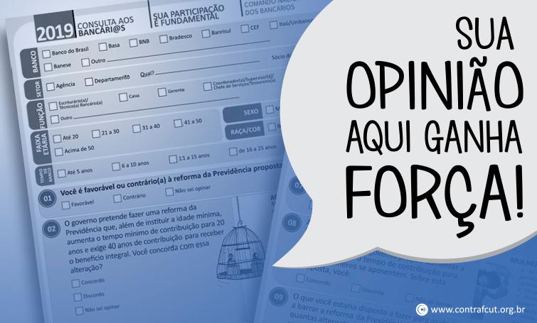 Imagem:Bancários respondem à Consulta Nacional