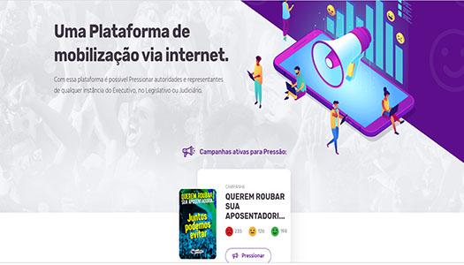 Imagem:Contra 'reforma' da Previdência, CUT lança site para pressionar deputados