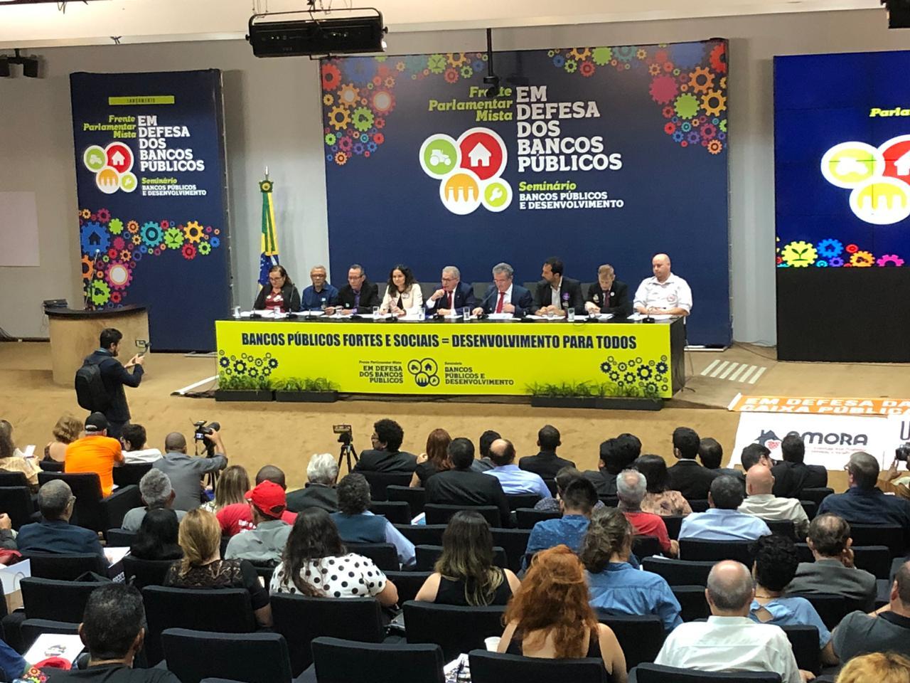 Imagem:Frente Parlamentar Mista em Defesa dos Bancos Públicos é lançada em Brasília