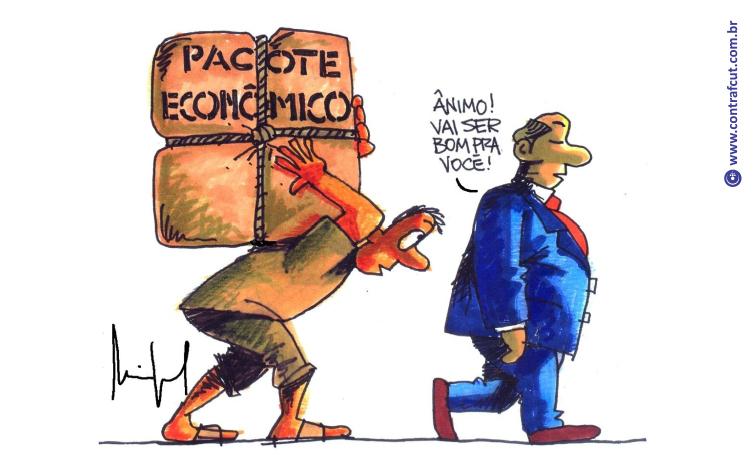 Imagem:Novo pacote do governo é mais um ataque contra os trabalhadores