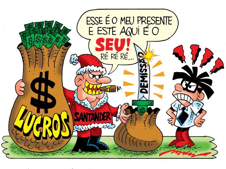Imagem:Ho Ho Ho?! No Santander, o presente de Natal é a demissão