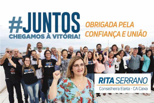 Imagem:Rita Serrano vence as eleições para representante dos empregados no CA da Caixa com mais de 80% dos votos