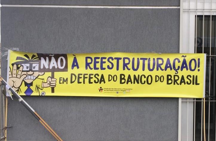 Imagem:Reestruturação do Banco do Brasil gera protestos em todo o país