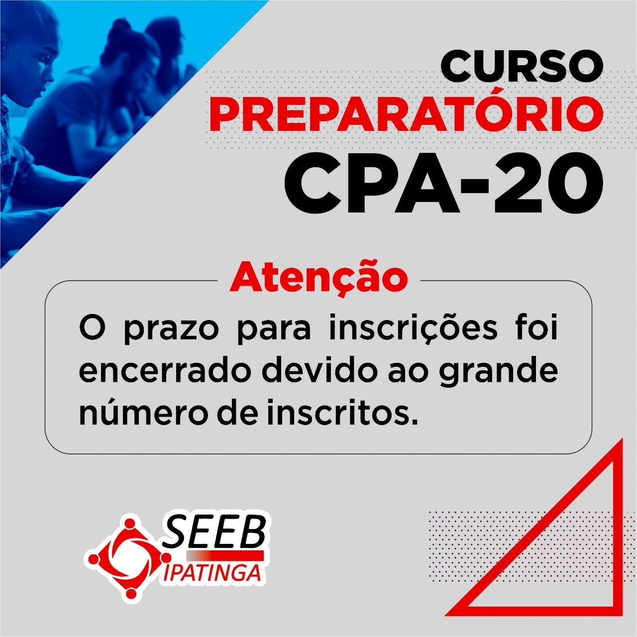 Imagem:Inscrições encerradas para curso preparatório CPA-20