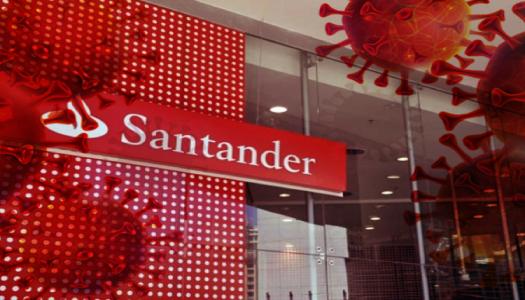 Imagem:Foco de coronavírus em agências do Santander