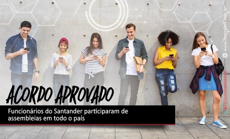 Imagem:Bancários do Santander aprovaram acordos com o banco