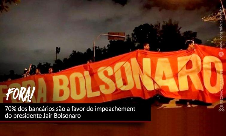 Imagem:70% dos bancários são a favor do impeachement do presidente Jair Bolsonaro
