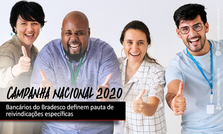 Imagem:Bancários do Bradesco definem pauta de reivindicações específicas