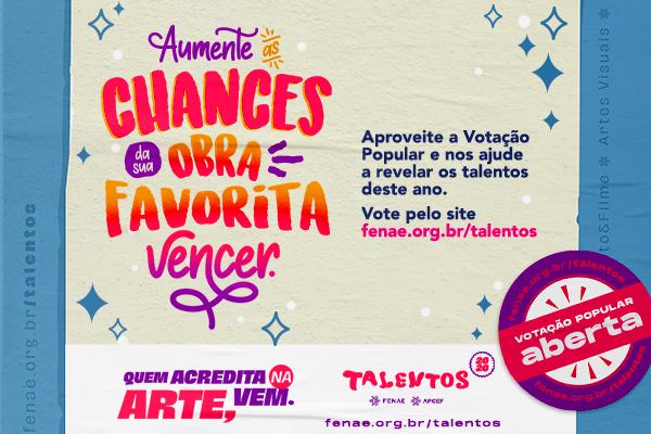 Imagem:Concurso cultural Talentos Fenae 2020 abre votação