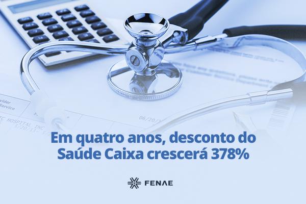 Imagem:Em quatro anos, desconto do Saúde Caixa crescerá 378%, segundo consultoria