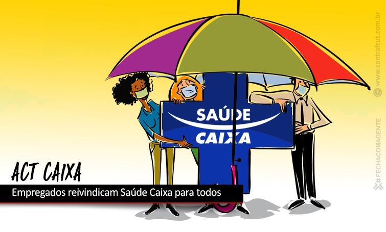Imagem:CEE/Caixa defende Saúde Caixa para todos