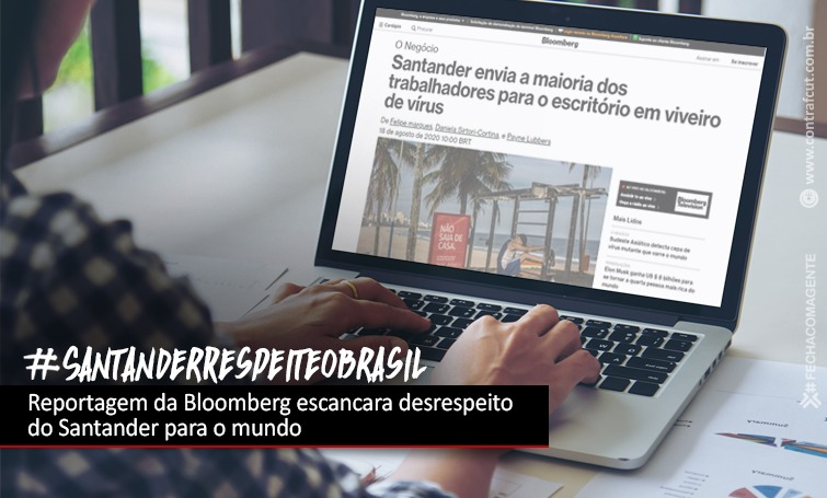 Imagem:Bloomberg mostra ao mundo o desrespeito do Santander com os brasileiros