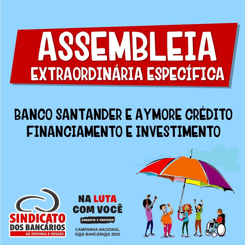 Imagem:Bancários do Santander e da Aymore Crédito Financiamento votarão acordo específico e aditivo