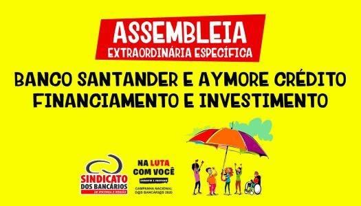 Imagem:Confira o link de votação da Assembleia Extraordinária Específica do Santander e Aymore Crédito