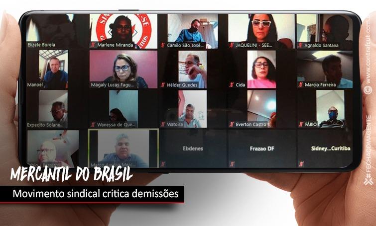 Imagem:Sindicatos cobram de Mercantil do Brasil sobre demissões