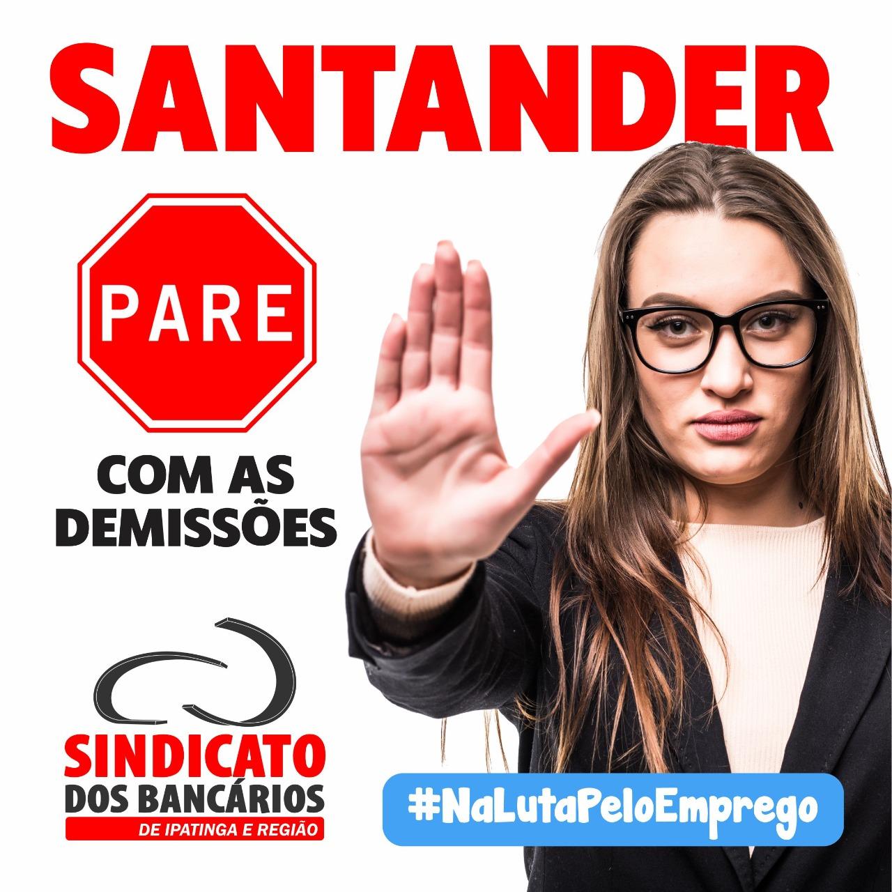 Imagem:Bancários protestam contra demissões no Santander