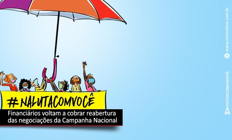 Imagem:Financiários cobram reabertura da Campanha Nacional 2020