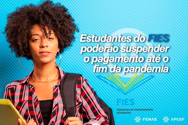 Imagem:Estudantes com contratos do Fies vão poder suspender pagamentos de parcelas na Caixa