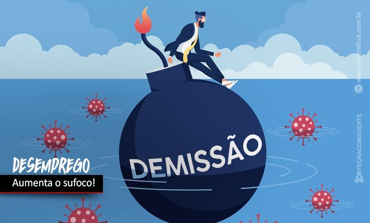 Imagem:Aumenta desemprego no Brasil e os bancos continuam a demitir