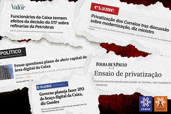 Imagem:Projeto de privatizações do governo é reforçado pela grande imprensa