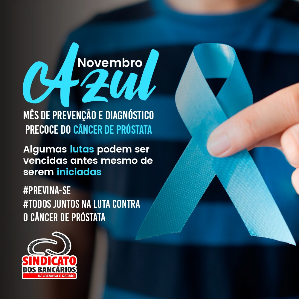 Imagem:Novembro azul alerta homens para a prevenção contra o câncer