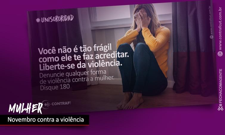 Imagem:Novembro é mês de combate à violência contra a mulher
