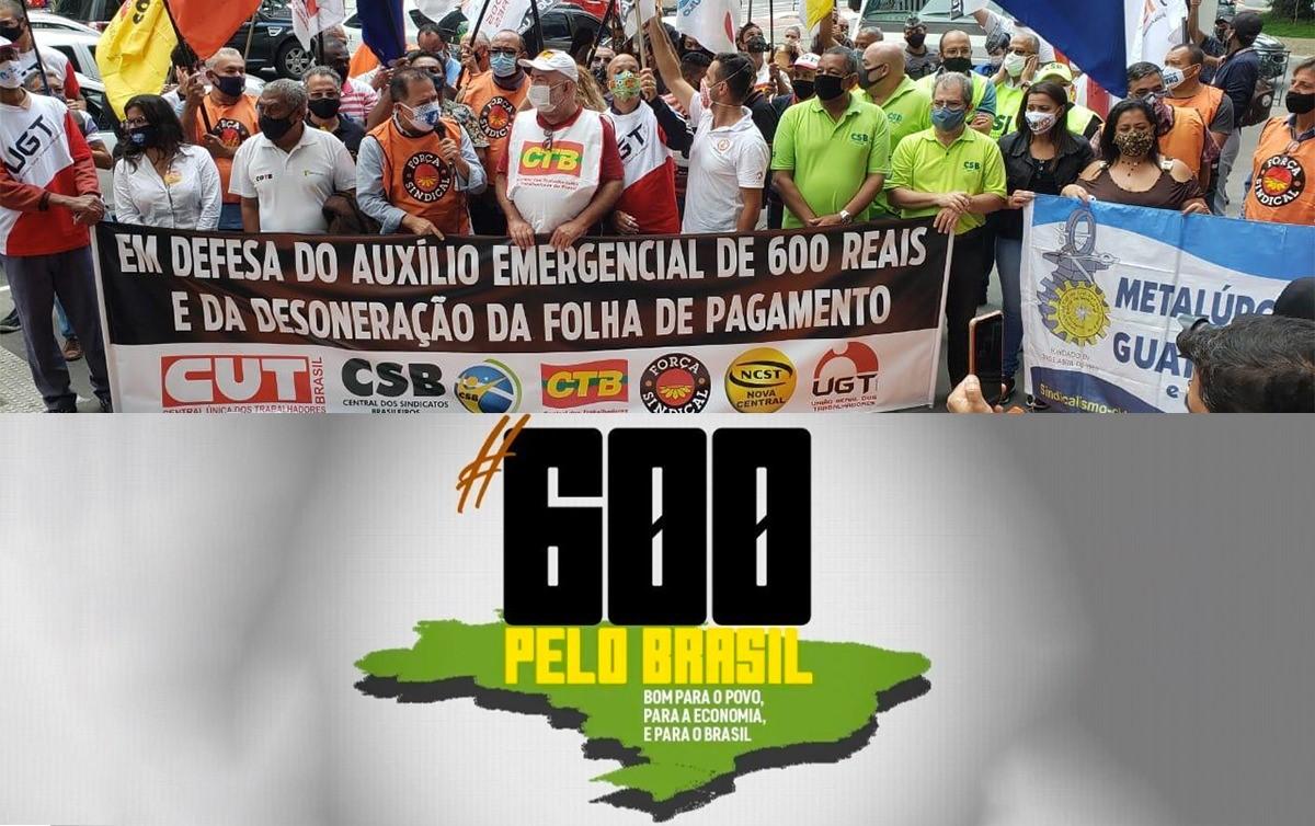 Imagem:A 'roda da economia': centrais pedem manutenção do auxílio de R$ 600 e desoneração