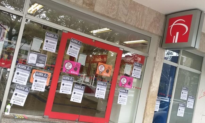 Imagem:Agências do Bradesco de Juiz de Fora são fechadas após confirmações de casos de Covid-19