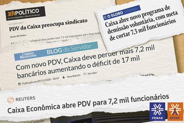 Imagem:Imprensa destaca PDV da Caixa e corte de mais de 7 mil empregados