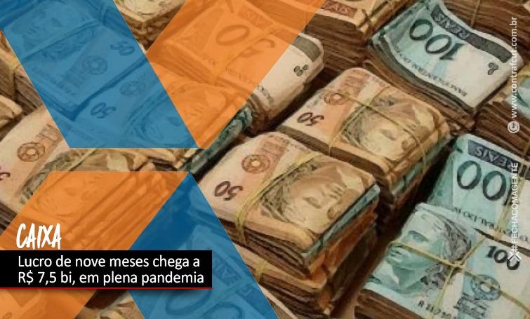 Imagem:Lucro da Caixa chega aos R$ 7,5 bilhões em nove meses