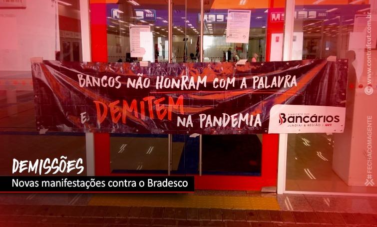 Imagem:Demissões no Bradesco provocam novas manifestações em todo o país