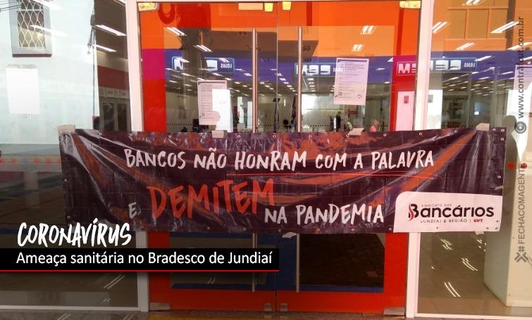 Imagem:Covid atinge agência do Bradesco e funcionários ficaram trabalhando