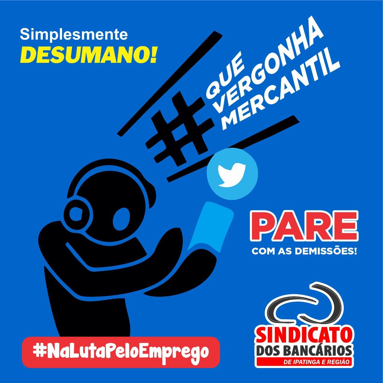 Imagem:Bancários do Mercantil fazem Dia Nacional de Luta contra demissões