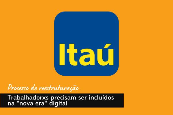 """Imagem:Movimento sindical defende inclusão de trabalhadores na """"nova era"""" digital do Itaú"""