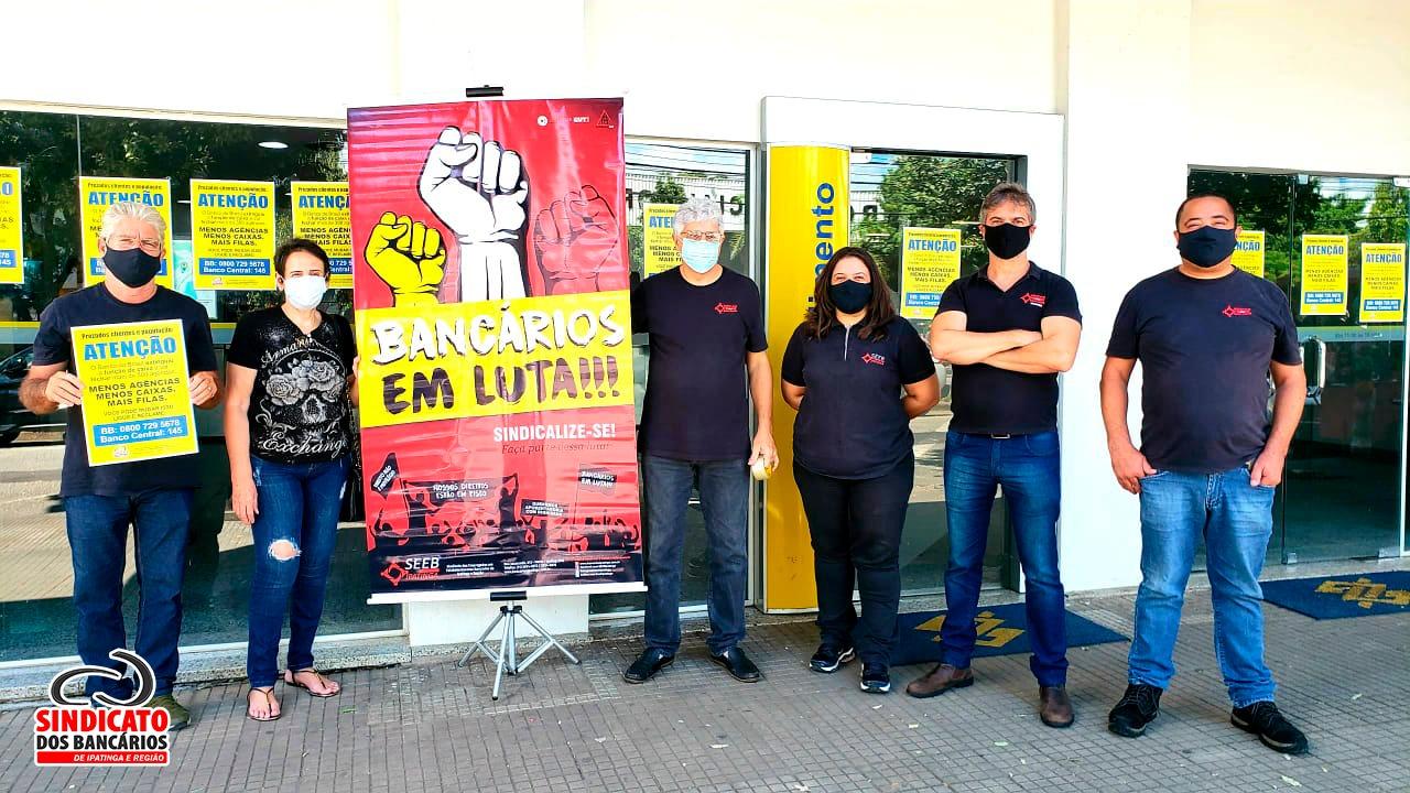 Imagem:Sindicato realiza ação de conscientização no Dia Nacional de Lutas contra a reestruturação