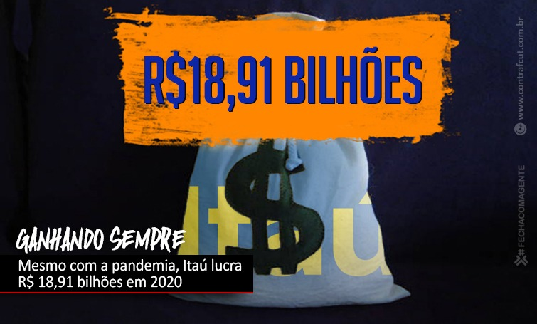Imagem:Mesmo em meio a pandemia, Itaú lucra R$ 18,91 bilhões em 2020