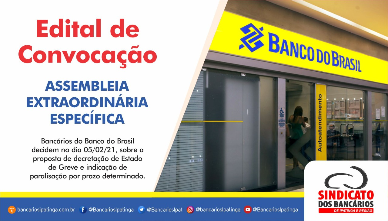 Imagem:Funcionários do Banco do Brasil decidem sobre paralisação em assembleia