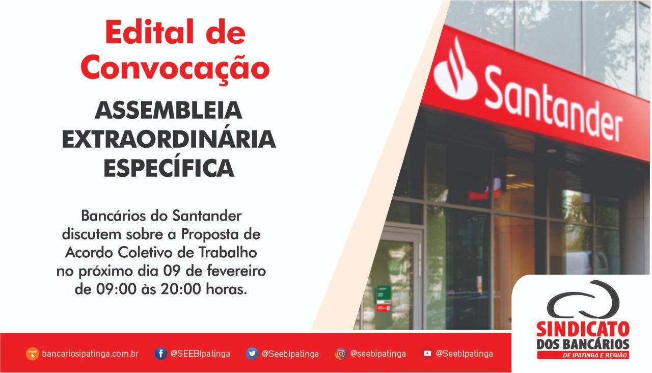 Imagem:Bancários do Santander deliberam sobre compensação de jornada em assembleia