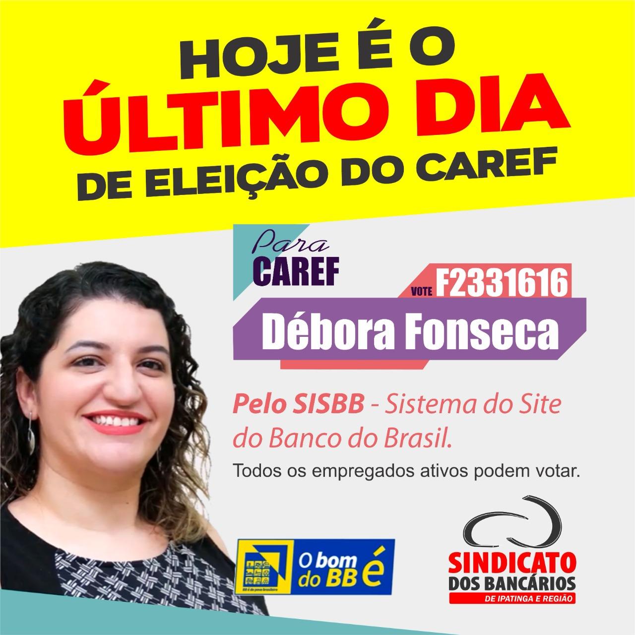 Imagem:Hoje termina o segundo turno da eleição do Caref no BB