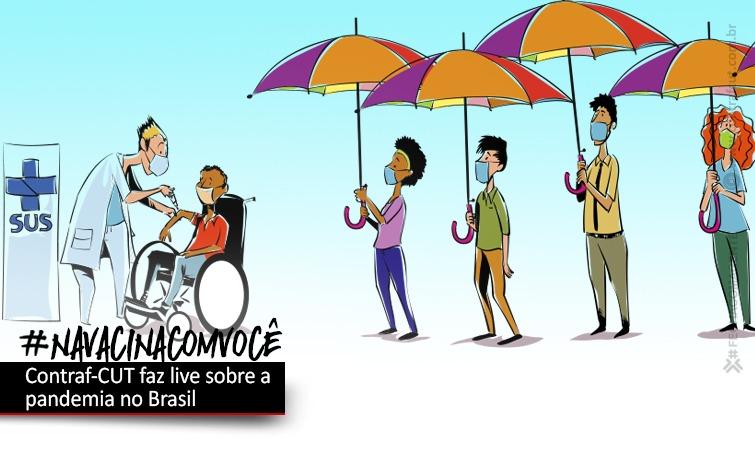 Imagem:Contraf-CUT debate a pandemia do coronavírus no Brasil
