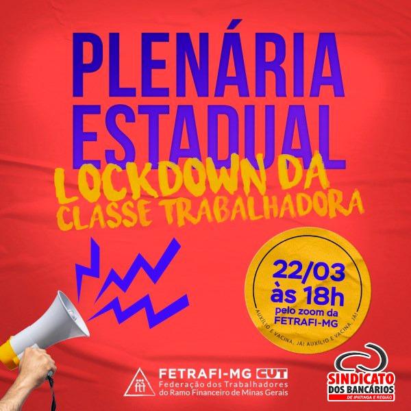 Imagem:Lockdown Nacional: Plenária hoje (22) definirá mobilização dos bancários